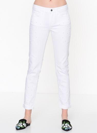 Mavi Jean Pantolon | Ada - Boyfriend Beyaz